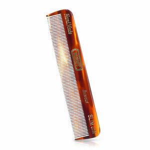 Kent Small Mens 120mm Slim Jim Handmade Sawcut Fine Toothed Pocket Hair Comb