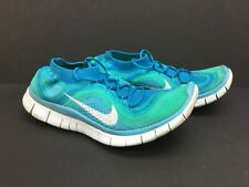 Nike Free Flyknit Neon Turquoise Atomic Teal Running Shoes Womens 8.5 Excellent