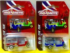 Majorette 2017 Tuk Tuk Taxi Red and Blue 1:60 Scale New
