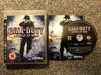 CALL OF DUTY WORLD AT WAR Sony Playstation 3 Game PS3