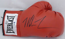 MIKE TYSON AUTOGRAPHED RED EVERLAST BOXING GLOVE RH IN BLACK BECKETT 155775