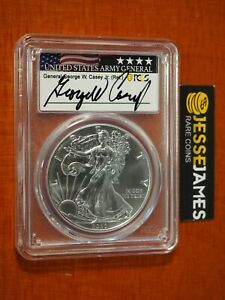 2020 (P) SILVER EAGLE PCGS MS69 GENERAL GEORGE W. CASEY SIGNED EMERGENCY ISSUE