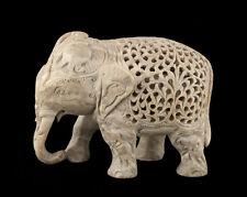 STATUE ELEPHANT- EN PIERRE  INDE-STONE ELEPHANT CARVING-  1374