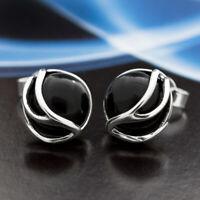 Onyx Silber 925 Ohrringe Damen Schmuck Sterlingsilber S0559