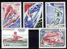 Monaco 1976 Yvert n°1057 à 1061 neuf ** 1er choix