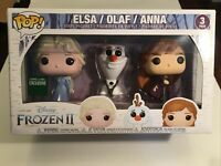 DISNEY Funko POP! Frozen 2 ANNA, ELSA, OLAF 3 Pack Barnes And Noble EXCLUSIVE!