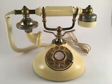 Vintage French style rotary telephone cream Dong Jun Korea WORKS!