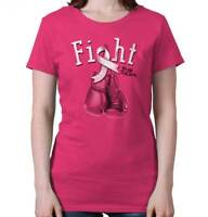 Breast Cancer Awareness T Shirt Fight For A Cure Ribbon Womens Tee