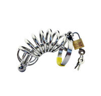 High Quality Stainless Steel Male Chastity Device Cage With Urethral Tube A057