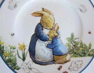 4x Beatrix Potter Peter Rabbit Porcelain Salad Plates Whimsical Mother & Child
