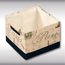 """KESPER 19511 Aufbewahrungskorb """"Paris"""" aus Textil, 29,5 x 29,5 x 21,5 cm"""