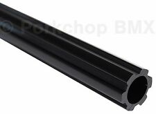 "Old school BMX bicycle 450mm seatpost seat post fluted 22.2mm 7/8"" BLACK"