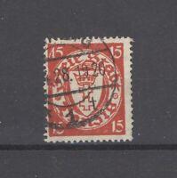 Danzig Mi.Nr. 214 I, 15 Pfg. Freimarke 1925 gestempelt, geprüft BPP (28793)