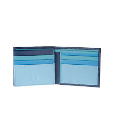 Small man's multi-colour soft leather wallet by DUDU Blue