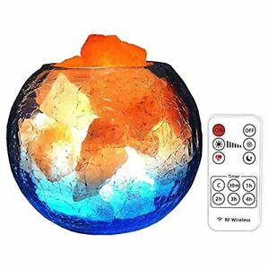 Himalayan Salt Lamp with Dimmer and Remote USB Himalayan Pink Salt Lamp with ...