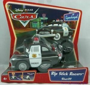 New Disney Pixar Cars Supercharged Rip Stick Racer Sheriff Police Toy Car Sealed