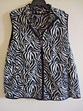 Ladies Laura Scott Vest Outdoor  Fleece  Animal Print   Zipper Pockets Size 2X