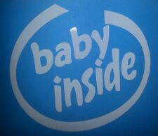 Baby Inside Infant Child Warning Car truck decal Window sticker Many Colors