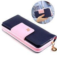 Stylish Women Zipper Purse Ladies Clutch Coin Wallet Phone Card Holder Handbag