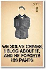 John Watson - We Solve Crimes - New Fictional Character Humor Poster