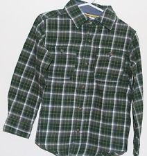 adbea474c BOYS KIDS CARTER'S 2 Pocket Plaid Button Front Flannel Long Sleeve Shirt -Sz4-$26