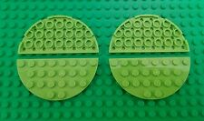*NEW* Lego Lime Green 8x4 Stud Round Edge Oval Baseplates Platforms - 4 pieces