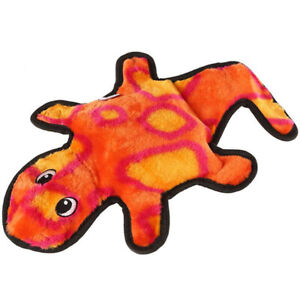 OUTWARD HOUND - Invincibles Geckos Dog Toy Red/Orange - 2 Squeakers