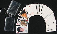 Michael Jackson Porte-Clés Jeu de Cartes Keyring Lot (54) Poker Playing Cards