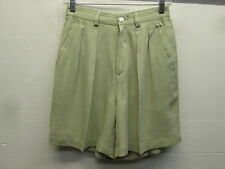 EUC! Tommy Bahama silk pleated front summer khaki dress shorts Women's size 4