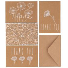 Kraft Thank You Cards With Envelopes Bulk Pack Of 36 Greeting Cards Notes