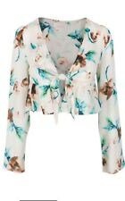 STONE COLD FOX: ANJA CROP IN IVORY COSMO BLOUSE Size 1 (S) NWT