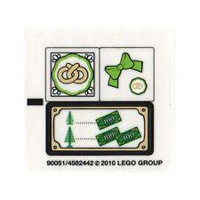 LEGO Holiday Christmas - New Sticker Sheet - 10216 Winter Village Bakery