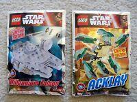 LEGO Star Wars - Rare - 911607 Millenium Falcon & 911612 Acklay Foil Packs