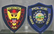 Obsolete Ohio Worthigton & Huber Heights Police Shoulder Patches