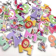 Children cartoon animals letters Wood Buttons Scrapbooking Sewing Random WB407