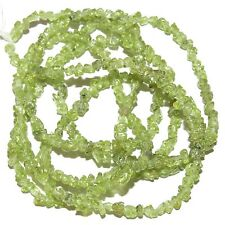 NG1255f Natural Green Peridot X-Small (4mm) Polished Gemstone Mini-Chip Bead 36""