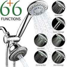 Hand Held Overhead Shower Head Combo Luxury Water Flow High Pressure Bathroom