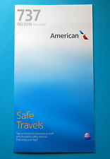 AMERICAN AIRLINES SAFETY CARD-- 737 NEW EDITION
