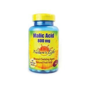 Nature's Life Malic Acid 800 mg 100 Veg Caps