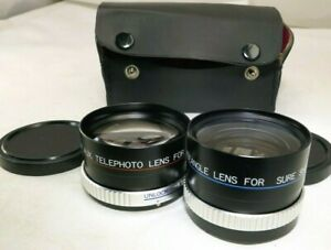 PM Telephoto & Wide angle Lens for Sure Shot 2 camera Canon AUX point and shoot