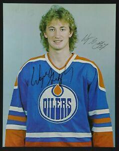 Wayne Gretzky AUTOGRAPHED Oilers Hockey Photo w/ PSA Cert