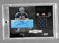 Tom Brady/Joe Montana 2004 Leaf Limited Monikers Dual Auto/Jersey #9/10