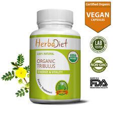 Organic Tribulus Terrestris 180 Capsules 400mg Pills Muscle Booster