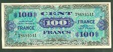 FRANCE 100 FRANCS VERSO FRANCE de 1944  ETAT: SPLENDIDE  2 épinglages  # 541