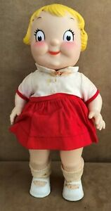 """Vintage Campbell's soup kid doll made in Hong Kong girl dress 10"""" plastic 1971"""