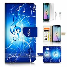 ( For Samsung S7 Edge ) Wallet Case Cover P2592 Music