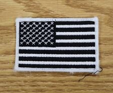 USA FLAG TACTICAL SWAT PATCH BLACK & WHITE