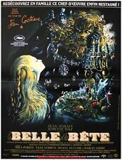 LA BELLE ET LA BETE Affiche Cinéma Originale 53x40 Movie Poster JEAN COCTEAU R13
