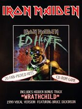 Iron Maiden 1999 Ed Hunter Original Rare Double Sided Promo Poster