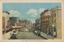 Postcard Moncton New Brunswick Main Street  ca 1920s-30s Near MINT